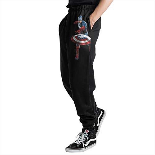 Lovesofun Aven-Gers G-AME Cap-Tain Ameri-ca Men's Casual Jogger Sweatpants Sports Trousers Pant Elastic Waist L]()