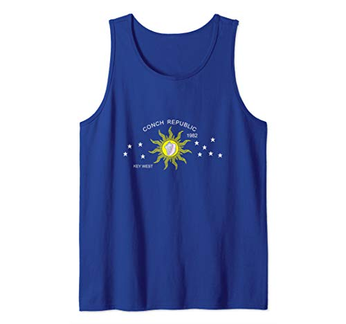 Florida Womens Tank Top - The Conch Republic Flag of Key West Florida Tank Top