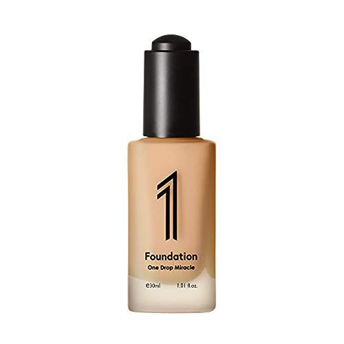 1 Foundation - One Drop Miracle Air Tint Foundation SPF22 PA++ 1.01 Fluid Ounce, Light Weight, UV Protection, Long lasting, Water resistant fluid foundation (Y23 (Medium Beige with yellow undertone))
