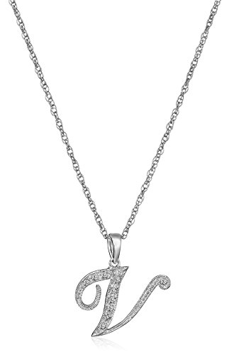 Sterling Diamond Pendant Necklace Clarity