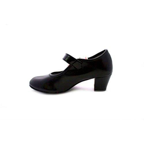 Talons danse de chaussures fille et dame Carolina Guillo en noir