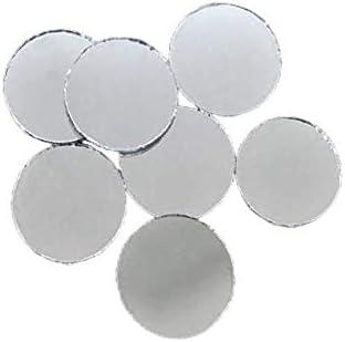 10 piezas de Plata de Cristal Redondo Espejo de Pegamento En Cabujón de Atrapasueños Decoración de Bordado a Mano Orfebrería de Luneville Tambor Indio de la Shisha Boho 50mm