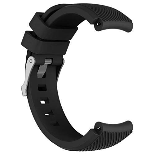 (Clearance Sale!DEESEE(TM)Replacement Silicone Watch Band Wrist Strap for Huawei Watch GT Smart Watch 22mm (Black))