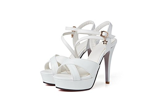 AdeeSu Womens Solid Cold Lining Firm-Ground Urethane Sandals SLC03779 White xmOiX