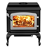 Stove Builder International Escape 1800 on Legs with Nickel Door Wood Stove