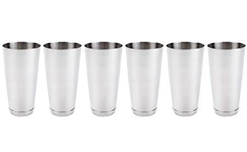 cktail Mixing Shaker Tin - Silver Glitter, Boston Shaker for Professional Bartenders, Commercial Grade Stainless Steel Bar Cheater Tins ()