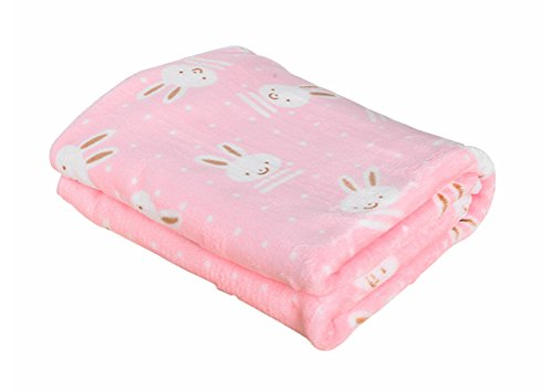 Freerun Pet Dog Cat Puppy Kitten Soft Blanket Warm Bed Mat Animal Figure Print Cushion - Pink Rabbit, ()