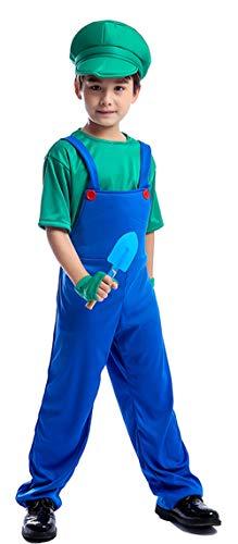 Riekinc Boys Gardener Uniform Cosplay Costume Halloween Role Play Costume -