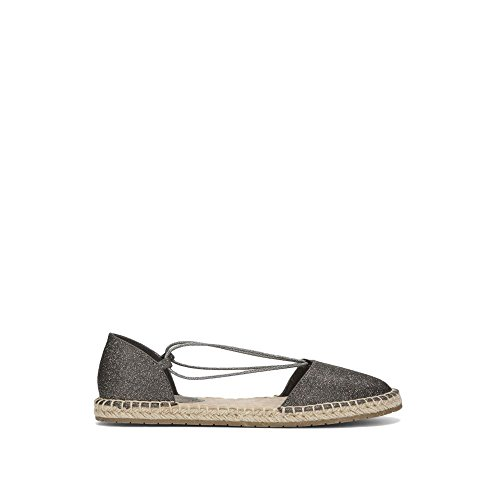 Elastic Espadrille Wedge - Kenneth Cole REACTION Women's How Laser Flat Elastic Straps Espadrille Wedge Sandal, Pewter, 6.5 M US