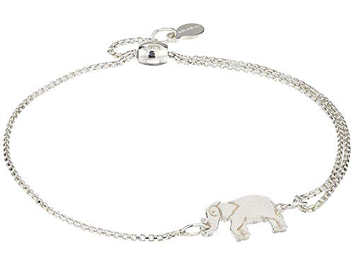 Alex and Ani Women's Elephant Pull Chain Bracelet, Sterling Silver