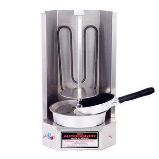 Gyro Broiler - Autodoner 3PEM-120V Optimal Mini Vertical Broiler for Gyros, 120V, Stainless Steel