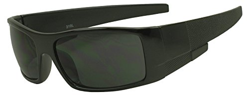 Glossy Black Polarized Sunglasses - 2