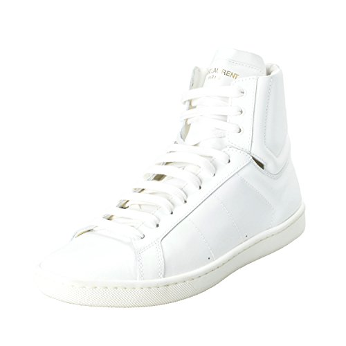 Saint Laurent Vrouwen Wit Leer Hi Top Fashion Sneakers Schoenen Wit