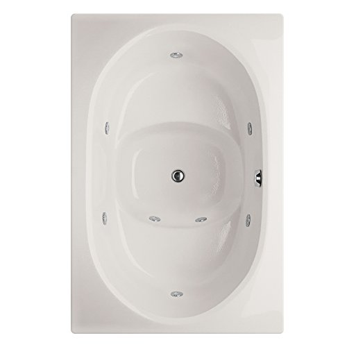 Fuji Acrylic Tub - Hydro Systems FUJ6040AWP-WHI-WOV.BIS Fuji Acrylic Tub with Whirlpool System (Drain Included), Biscuit