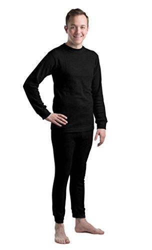 New Mens Thermal Underwear Set (Frelik Mens Thermal Underwear Set XXL Black)