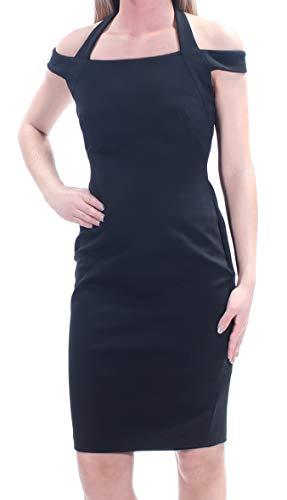 (Ralph Lauren Lauren Petite Halter Black Bernecello Jersey Dress)