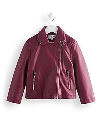 RED WAGON Girl's Pu Biker Jacket Coat, Purple, 104 (Manufacturer Size: 4)