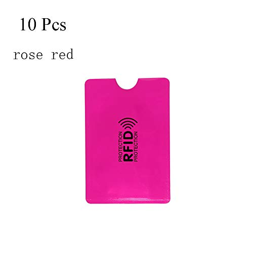 Office & School Supplies 10pcs Aluminum Foil Anti Degaussing Id Credit Card Holder Business Card Case Skin Sleeves Highly Polished Badge Holder & Accessories