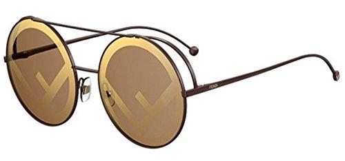 New Fendi RUN AWAY FF 0285/S 09Q/EB brown/brown gold Sunglasses
