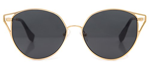 Sonix Women's Ibiza Sunglasses, Gold Wire/Black, One - Sonix Sunglasses