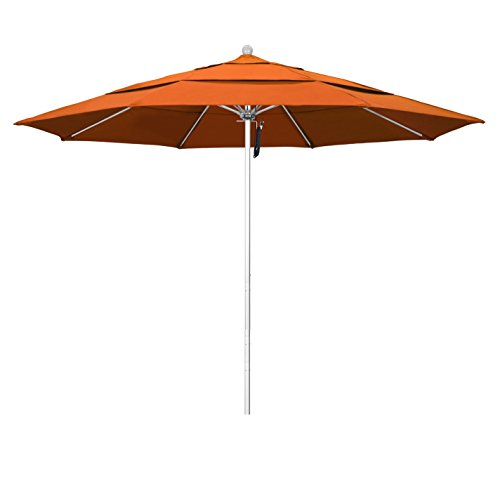 (Phat Tommy 11 Ft Silver Anodized Commercial Patio Market Umbrella - for Shade, Tuscan)