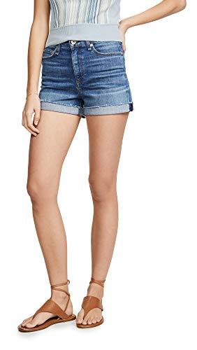 Rag & Bone/JEAN Women's Nina High Rise Shorts, Balboa, Blue, - Bone Clothes And Rag