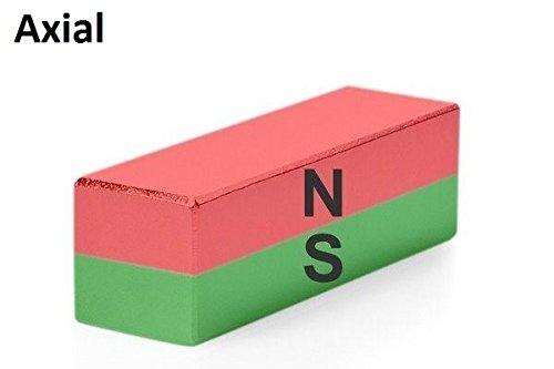 Magnetastico® | 1 pieza imán ultra fuerte de neodimio N52 rectangular 40x20x10 mm | Imán extremadamente potente | Imán permanente Neodimio superimán: ...