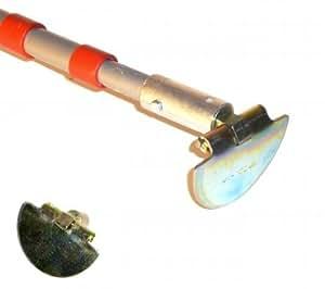 Limpiador para canaletas para todos los tamaños con 400cm telescópico varilla 20cm–15cm–10cm