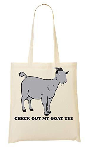 Bolso De Compra My Ams Tee Check Out La Mano Goat Bolsa pqwX6Yq