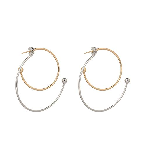 YRY Hoop Earrings Geometric Dangle Alloy Hollow Out Letters Star Baby Engraving Earrings Jewelry for Womens Girls (Hoop)