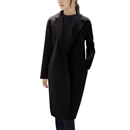 HOT SALE, AIMTOPPY Womens Autumn Winter Jacket Casual Outwear Parka Cardigan Slim Coat Overcoat (XL, Black) (Knit Bed Jacket)
