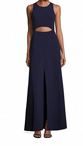 BCBG Max Azria Women's Cutout Slit Sheath Dress Blue 8 ()