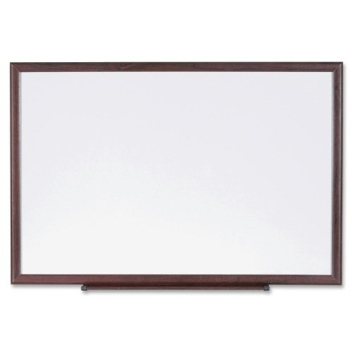 Lorell Dry-Erase Board, Wood Frame, 4'x3', Brown/White (LLR84168) by Lorell