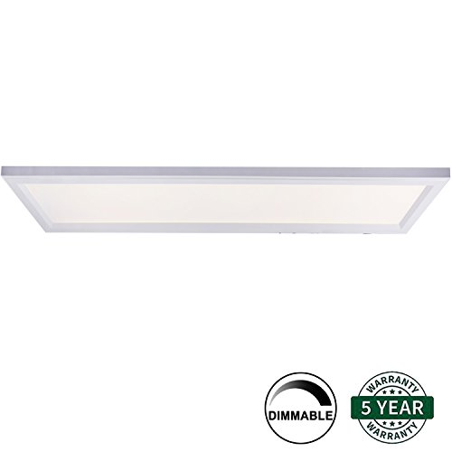 Hykolity 2ft X 4ft Ultra Thin Edge-Lit 50W LED Flat Panel Light Residential Flushmount Surface Mount/ Commercial Drop Ceiling Dimmable Ceiling Lamp Fixture (Drop Ceiling Fixture)