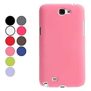 Exquisite Design Frosted Surface Hard Case for Samsung Galaxy Note 2 N7100 (Assorted Colors) --- COLOR:Red