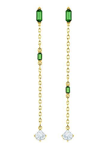 Swarovski Jewelry, Oz Pierced Earrings Chain Crystal Gold 5455522