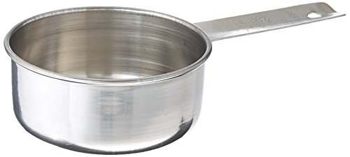 Tablecraft (724C) 1/2 Cup Stainless Steel Measuring ()