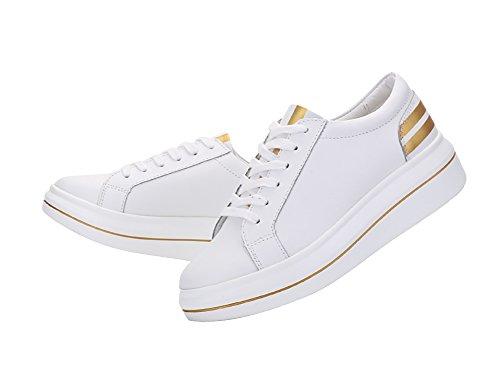 Zapatillas De Deporte Verocara Para Mujer Con Cordones Y Zapatillas De Deporte Blancas De Oro