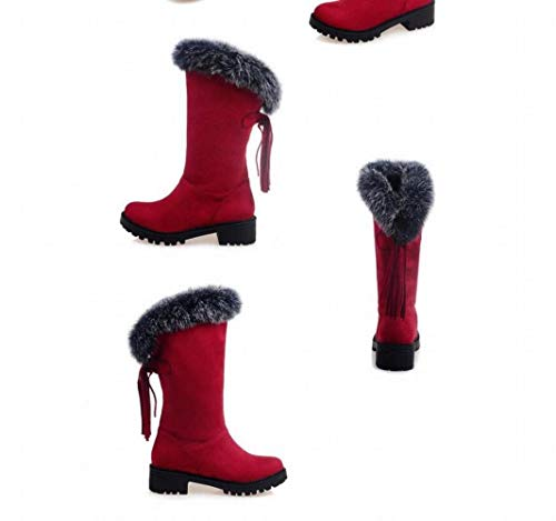 Con Mujer Más En Planas 30 Invierno Para De Cabello La Rojo Tamaño Tubo 52 Botas Zapatos Código El Terciopelo Nieve Corto Borlas Las Wsr Mujeres wxTq6Tz