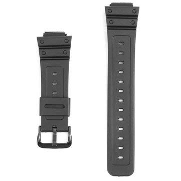 16mm Black Rubber Watch Band For G-Shock DW-6900 DW6600 With Buckle - Watch Accessories Watch Strap & Strap Hoop Loop - (16mm)