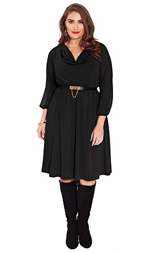 IGIGI Women's Plus Size Soleil Dress in Black 22/24