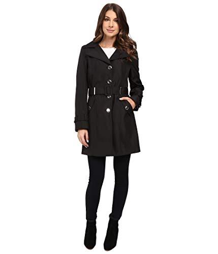 Calvin Klein Single Breasted Rain Trench Black LG (US 12-14)