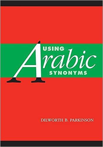 Using Arabic Synonyms Parkinson Dilworth B 9780521001762 Amazon Com Books