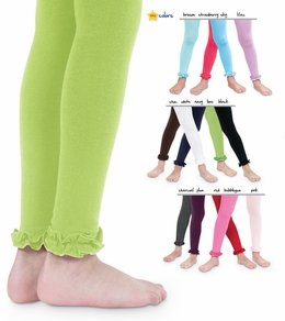 Jefferies Socks Baby-Girls Infant Pima Ruffle Footless Tight, Bubble Gum, 0-6 Months