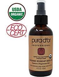 Pura D'or Organic Rosehip Seed Oil, 4 Ounce