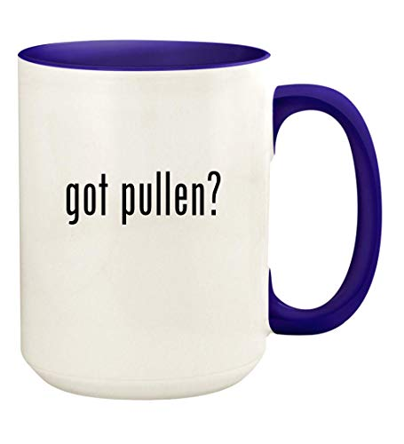 (got pullen? - 15oz Ceramic Colored Handle and Inside Coffee Mug Cup, Deep Purple)