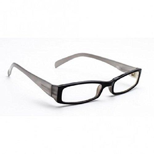 Transition Reading Glasses +1.50 In Designer Black Plastic - Reading Transitional Glasses
