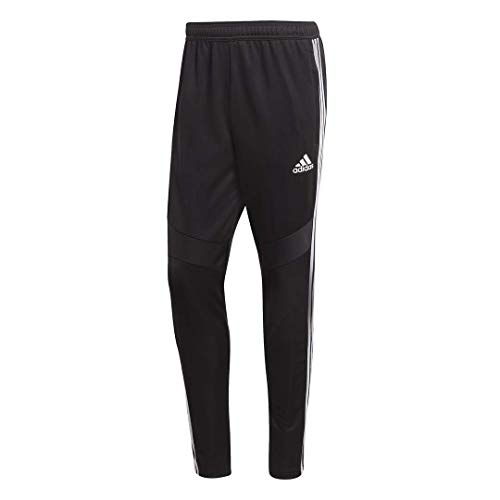 (adidas Men's Soccer Tiro 19 Training Pant, Black/White, Medium)