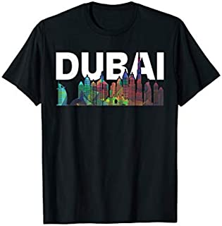 Perfect Gift New Dubai Love Skyline Unisex T shirt for Holidays in Dubai Need Funny TShirt