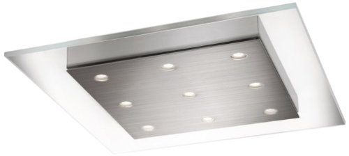 Philips 407411748 Matrix - LED Flush Mount, Brushed Nickel Finish with Clear Glass